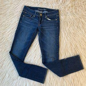 American Eagle Skinny Jeans dark wash stretch 2